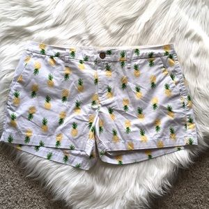 Old Navy Pineapple Print Shorts - Sz 12